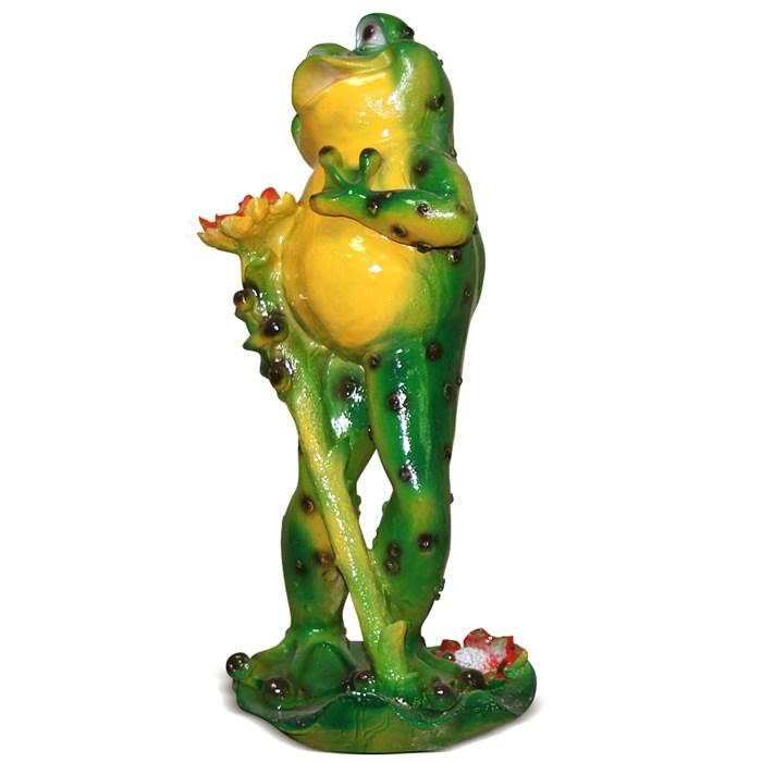 Фигура Лягушка с кувшинкой