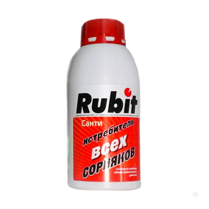 Рубит Санти от сорняков