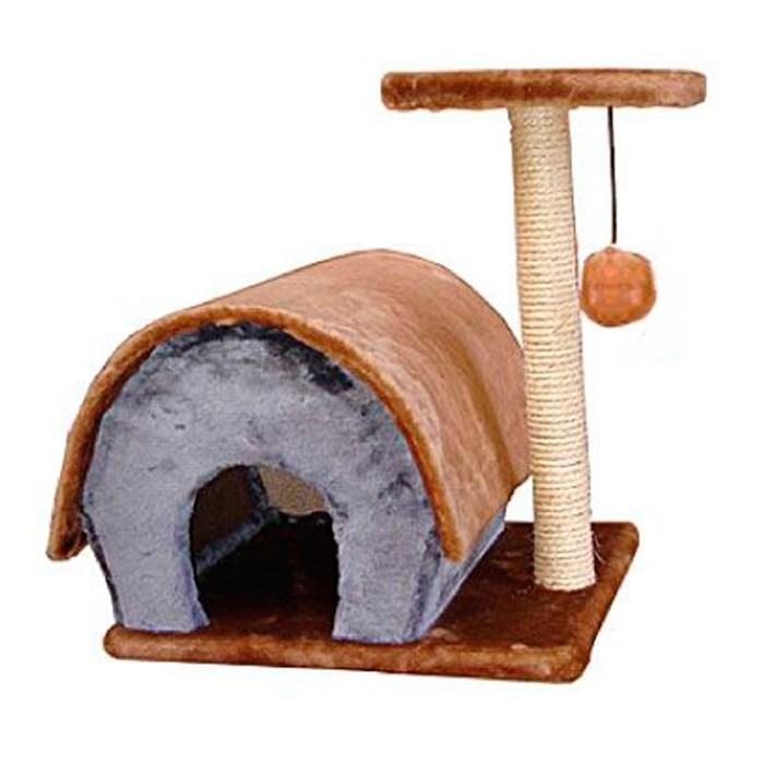 Домик-когтеточка с полукругл крышей