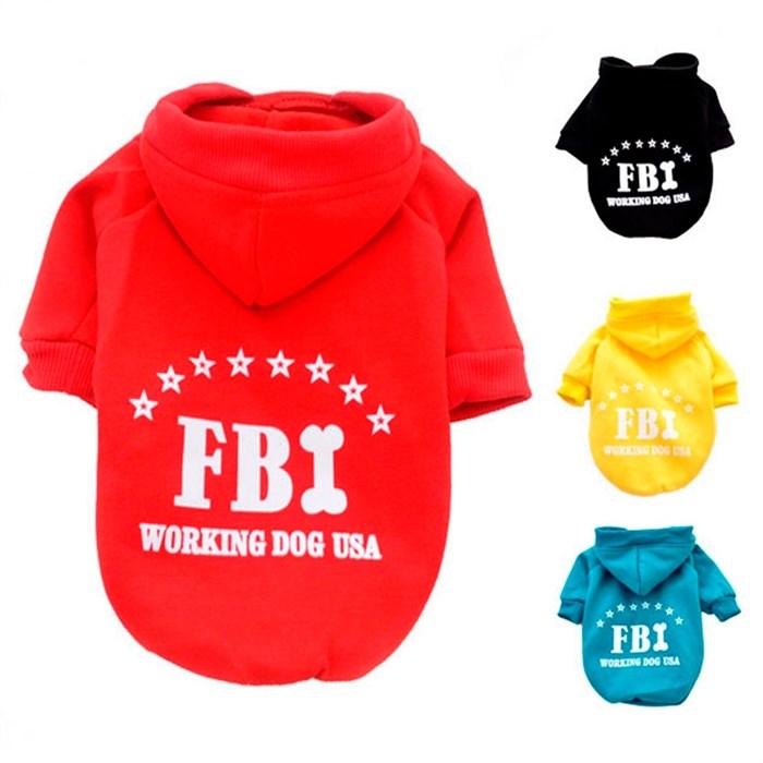 Толстовка для собак FBI J1017
