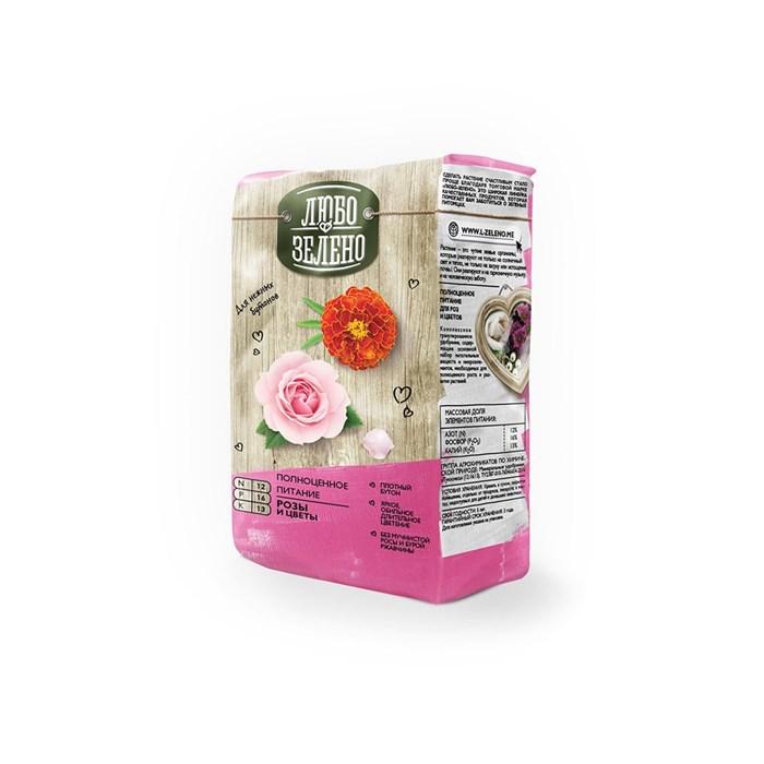 Удобрение Любо-Зелено для Роз и цветов 1кг брикет