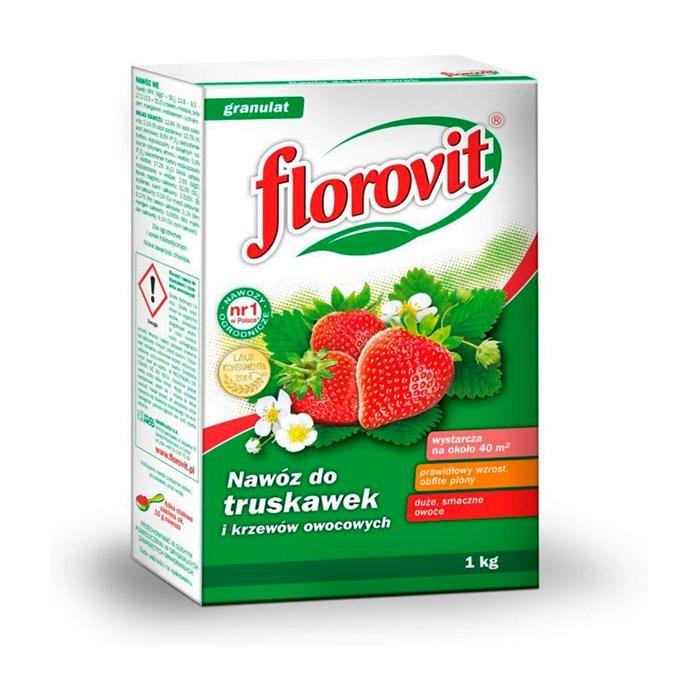 Удобрение Флоровит для клубники и земляники 1кг гранулированное
