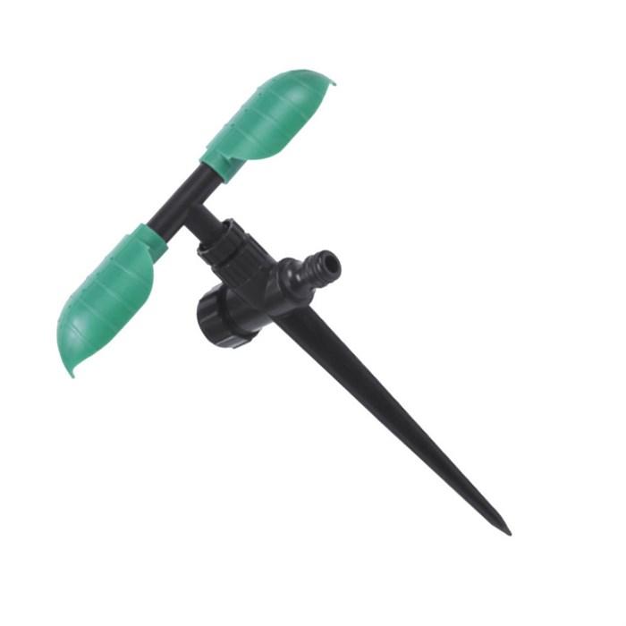 Ороситель 2-х рожковый вращающийся на ножке - фото 50173