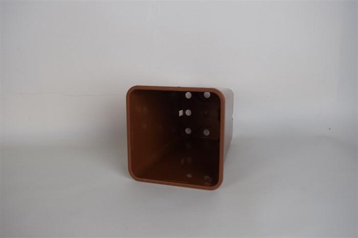 Горшок для рассады 15*20 квад 2,8л коричневый - фото 52833