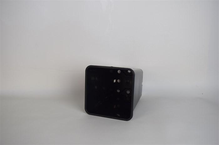 Горшок для рассады 15*20 квад 2,8л черный - фото 52835