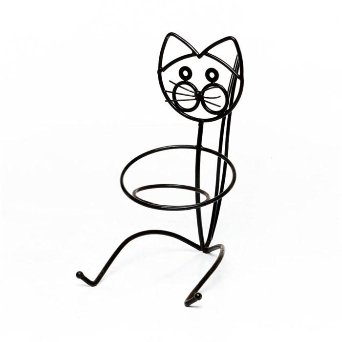 Садовая подставка Кошка - фото 53223