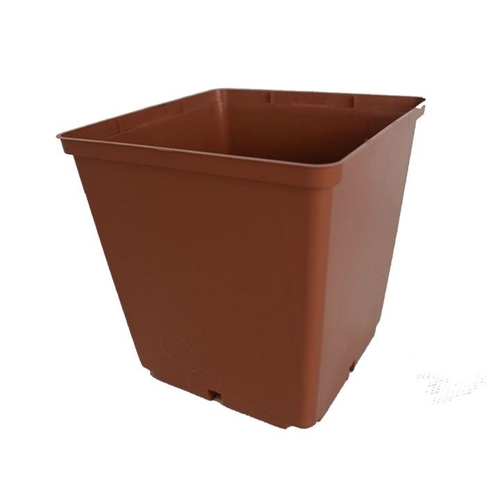 Горшок для рассады 13*13 1,6л квад. коричневый - фото 53992