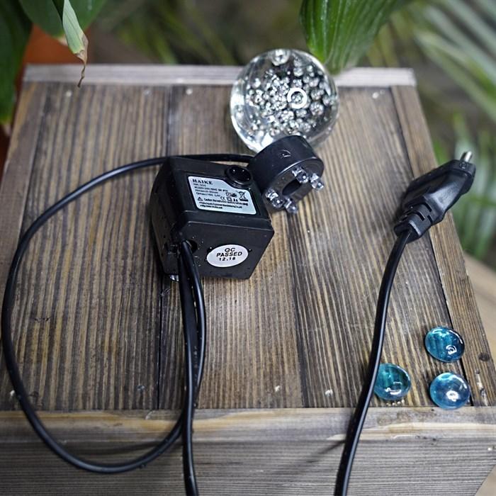 Фонтан настольный с подсветкой Лягушки с шаром Грин Эпл - фото 55144