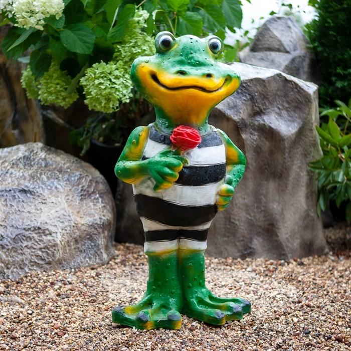 Фигура Лягушка с цветком - фото 61116