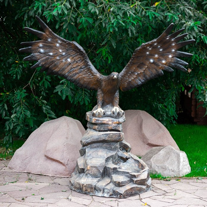 Фонтан Орел на камне большой - фото 61123