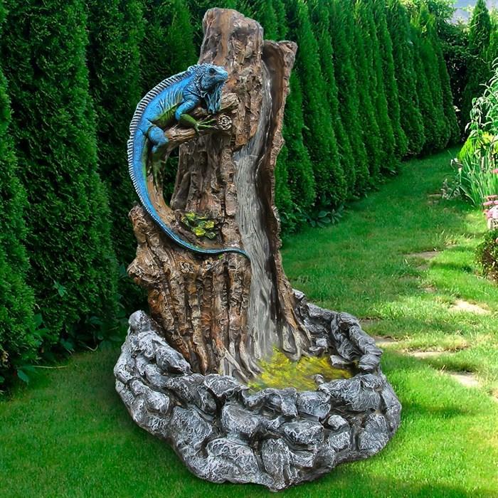 Фонтан Игуана на дереве - фото 61125