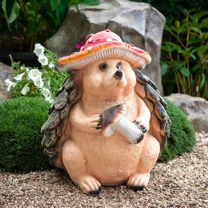 Фигура Еж в шляпе гриба - фото 62577
