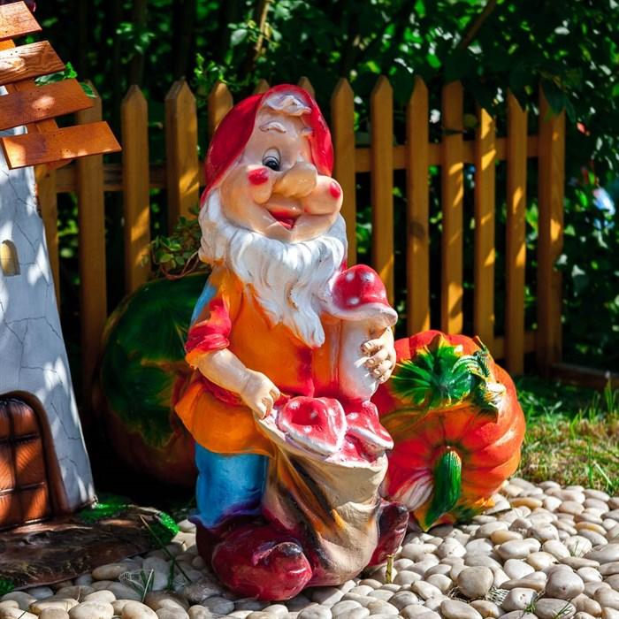 Фигура Гном с грибами - фото 62743