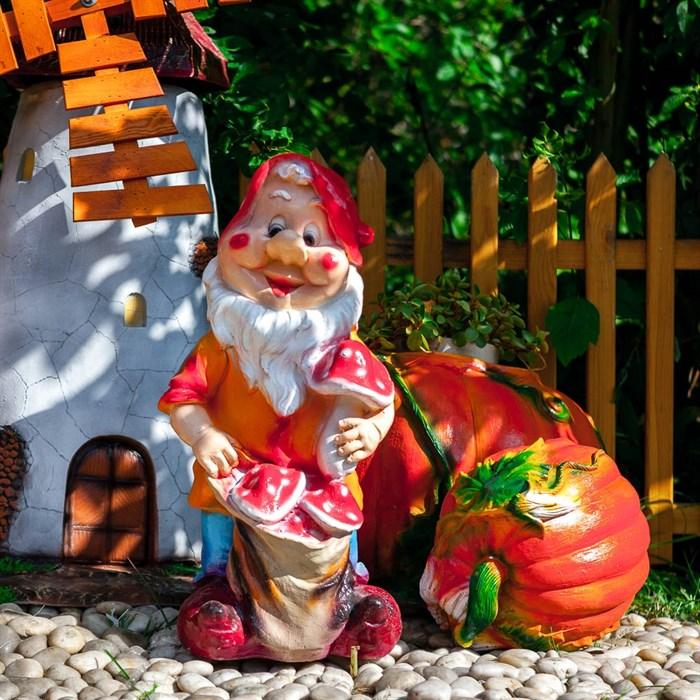 Фигура Гном с грибами - фото 62744