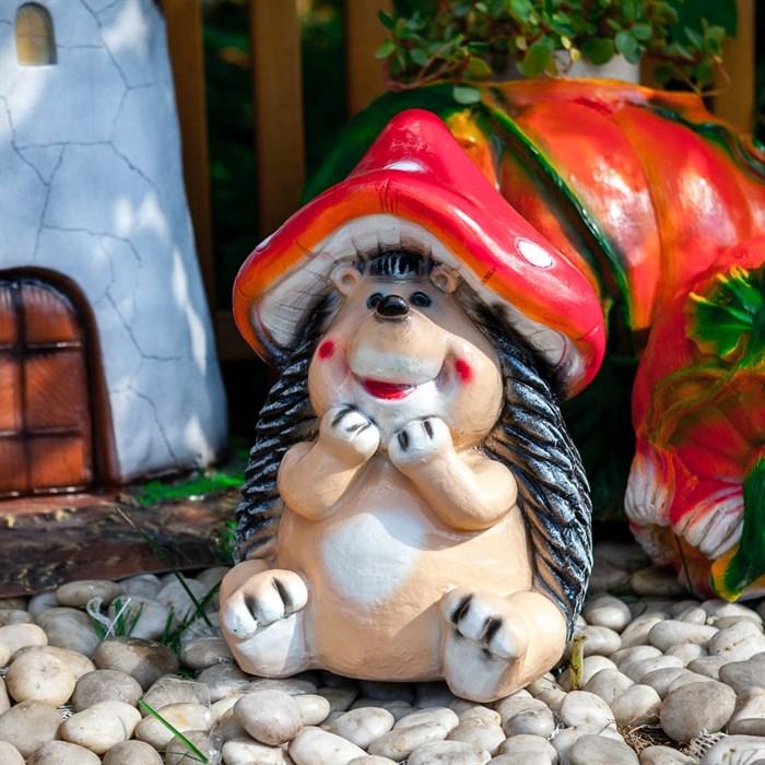 Фигура Ежик в шляпке мухомора - фото 62756