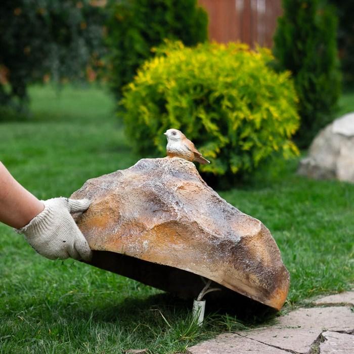 Фигура Камень с птичкой - фото 63017