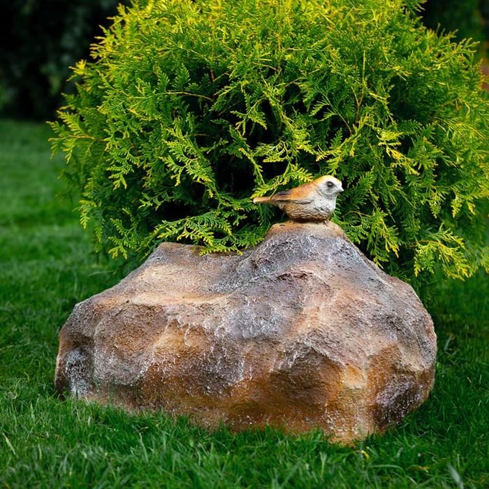 Фигура Камень с птичкой - фото 63018