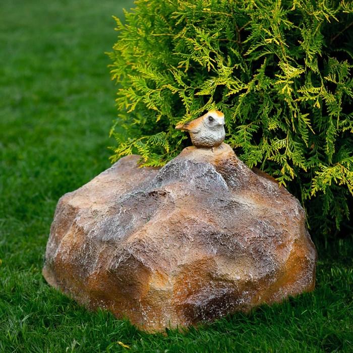 Фигура Камень с птичкой - фото 63019