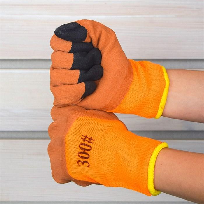Перчатки махровые с покрытием из вспенен.латекса - фото 63079