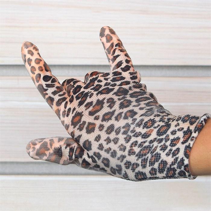 Перчатки нейлоновые Цветочек с нитрил.покрыт. - фото 63081