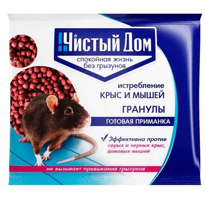 Чистый дом Зерновая приманка от крыс и мышей 100гр - фото 64229