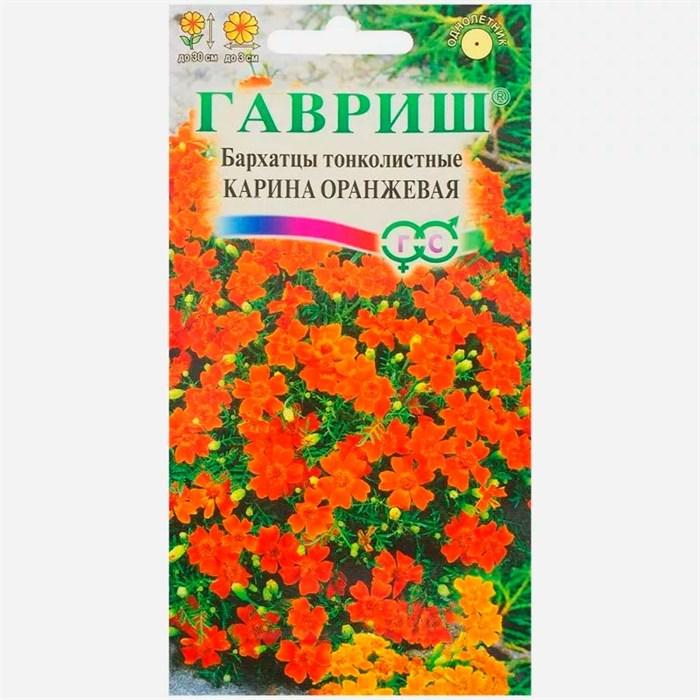 Бархатцы тонколистные Карина оранжевая 0,05гр - фото 65089