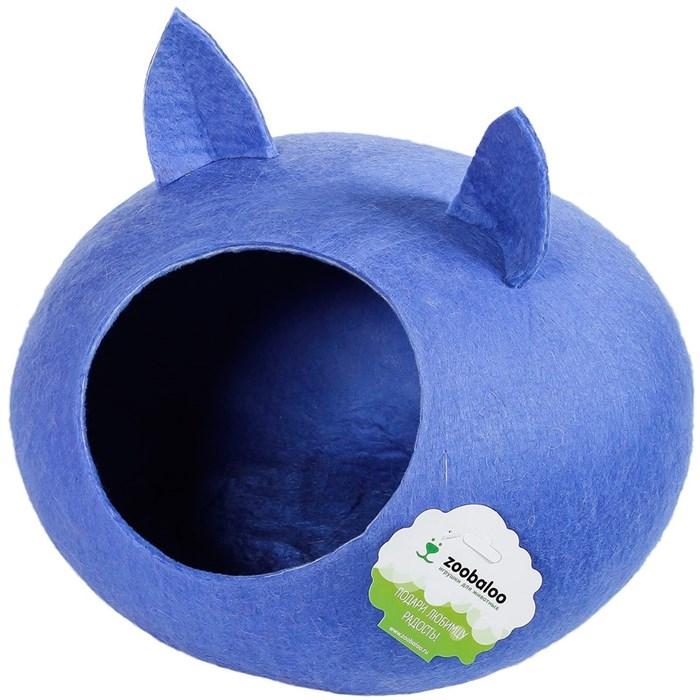 Домик-слипер M круг с ушками синий - фото 69303