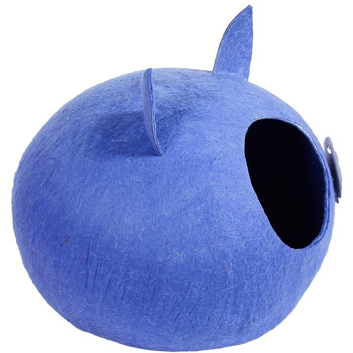 Домик-слипер M круг с ушками синий - фото 69304