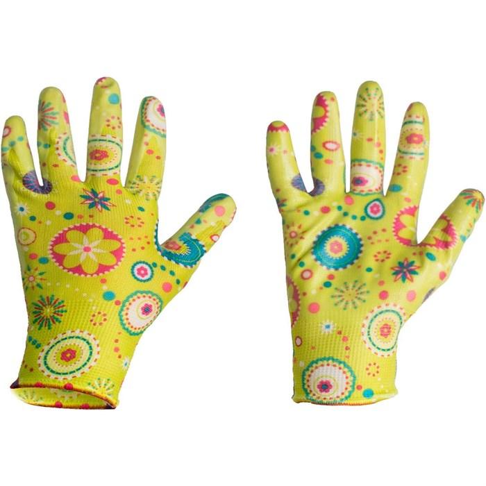 Перчатки Листок нейлон с нитр.покр S - фото 73855