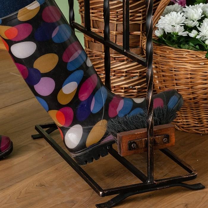 Декроттуар садовый с сушилкой для обуви кованый 62-015 - фото 75122