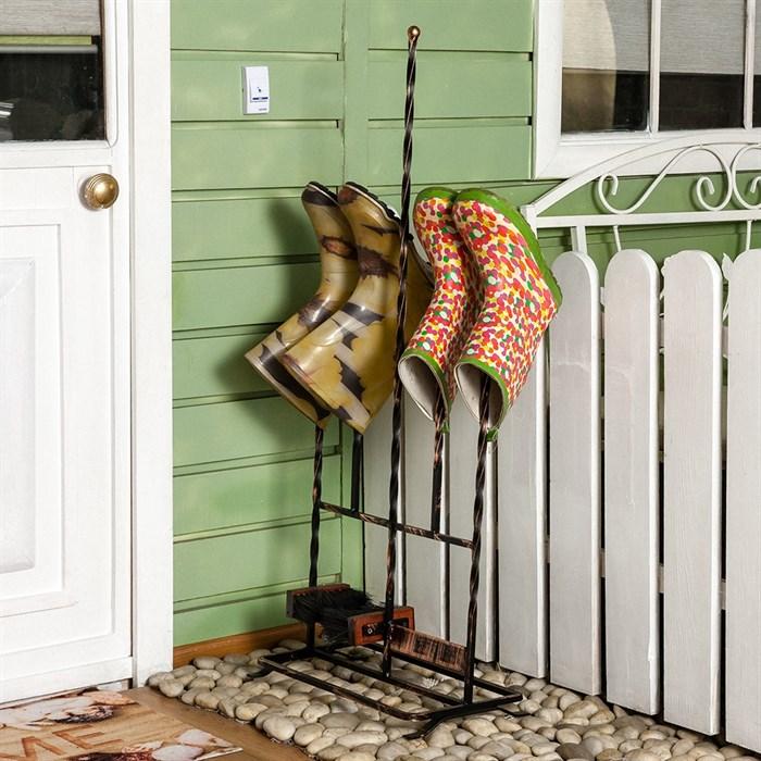 Декроттуар садовый с сушилкой для обуви кованый 62-015 - фото 75124