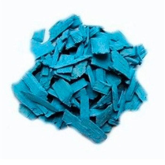Декоративная щепа 60л голубая - фото 75415