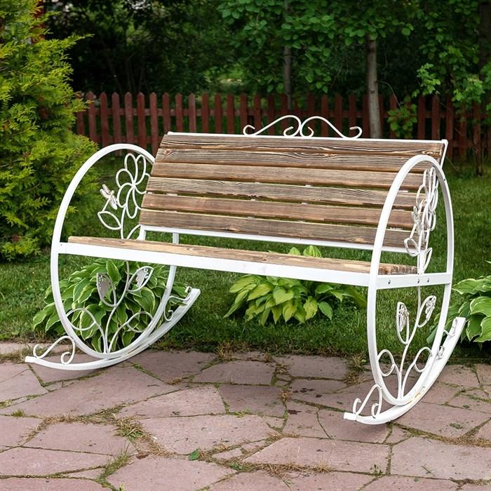 Кресло качалка состаренное дерево 881-43R - фото 76918