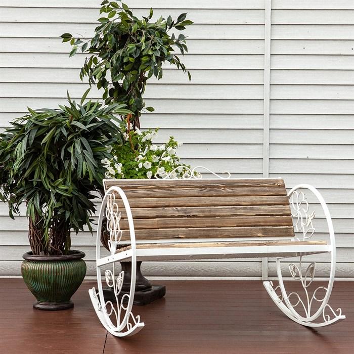 Кресло качалка состаренное дерево 881-43R - фото 76920