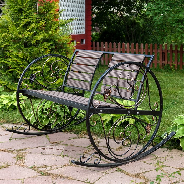Кресло качалка кованое 881-46R - фото 76929