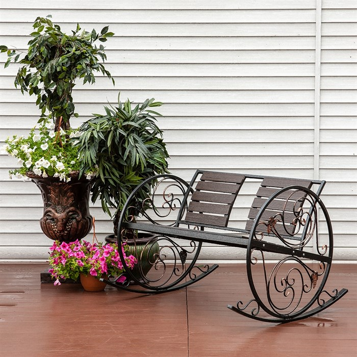 Кресло качалка кованое 881-46R - фото 76931