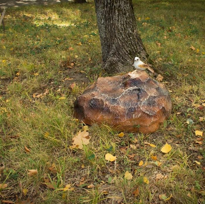 Фигура Камень с птичкой - фото 77537