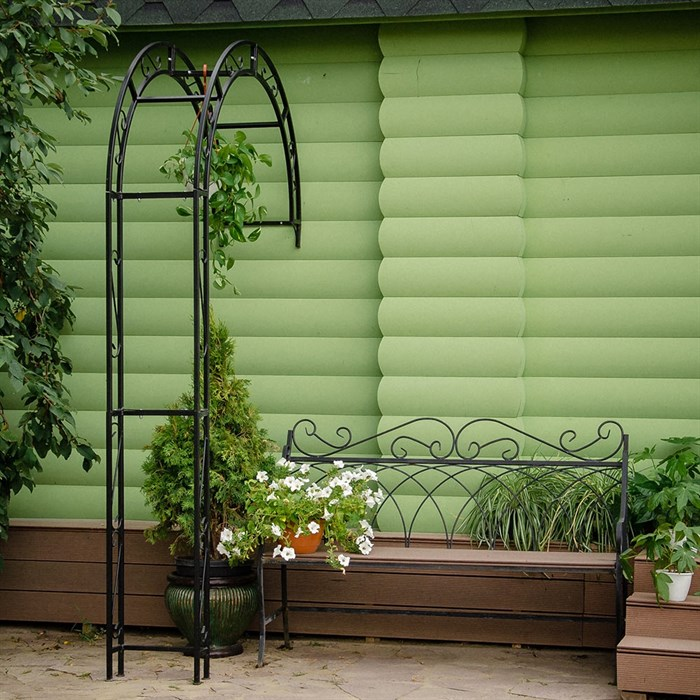 Полуарка садовая металл черная 863-41R - фото 80490