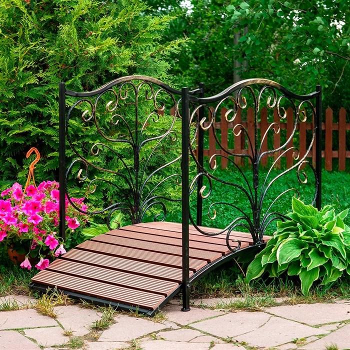Мост садовый металл и террасная доска 862-25R - фото 80503