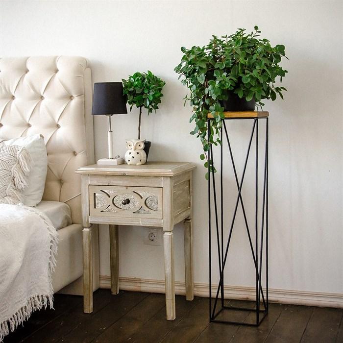 Подставка с деревом для цветов металл Лофт 66-416 - фото 82142