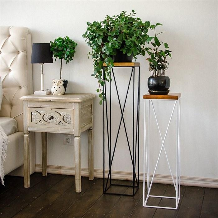 Подставка с деревом для цветов металл Лофт 66-416 - фото 82143