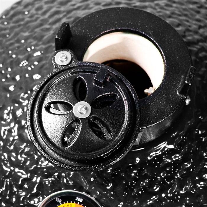 Гриль-барбекю яйцо керамический угольный черный, 39,8 см/16 дюймов - фото 87201