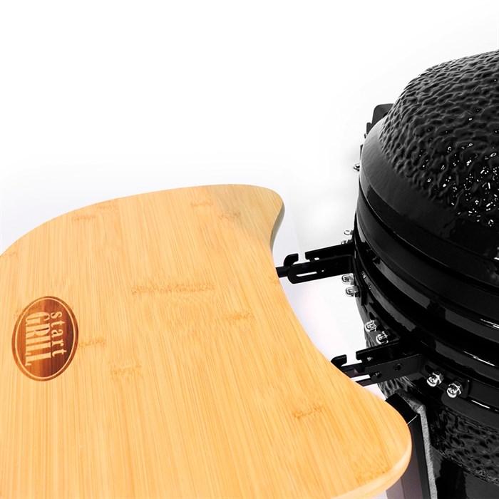 Гриль-барбекю яйцо керамический угольный черный, 39,8 см/16 дюймов - фото 87203
