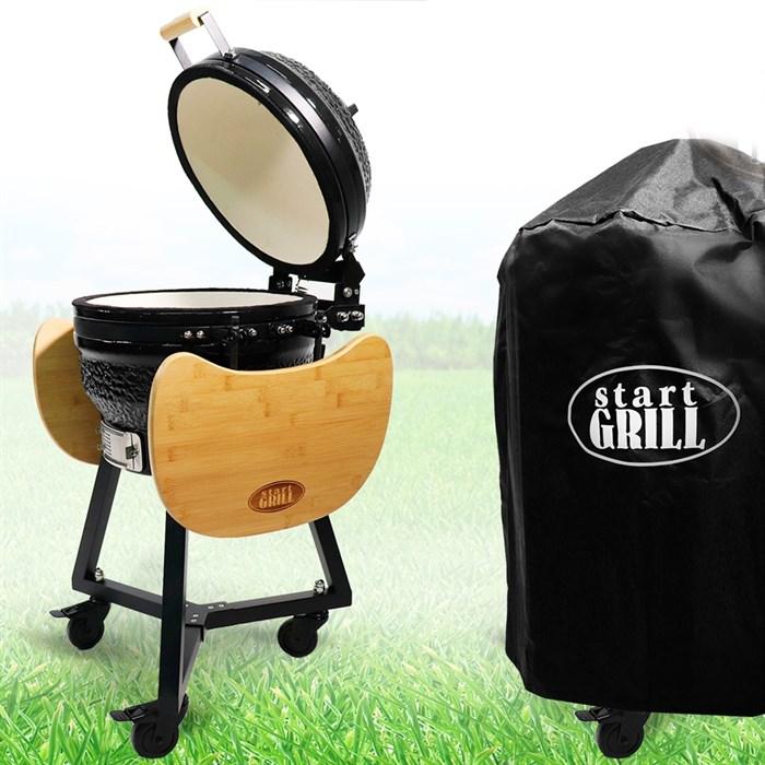 Гриль-барбекю яйцо керамический угольный черный, 39,8 см/16 дюймов - фото 87204