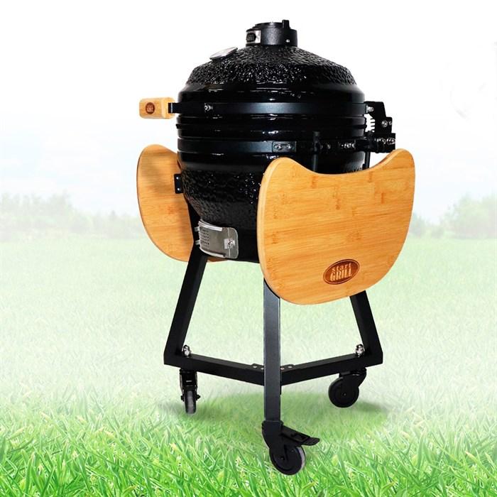 Гриль-барбекю яйцо керамический угольный черный, 39,8 см/16 дюймов - фото 87205