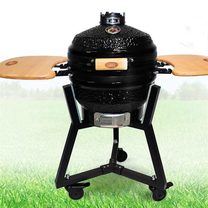 Гриль-барбекю яйцо керамический угольный черный, 39,8 см/16 дюймов - фото 87206