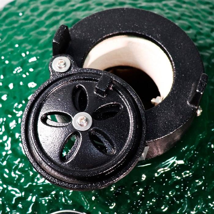 Гриль-барбекю яйцо керамический угольный зеленый, 39,8 см/16 дюймов - фото 87209