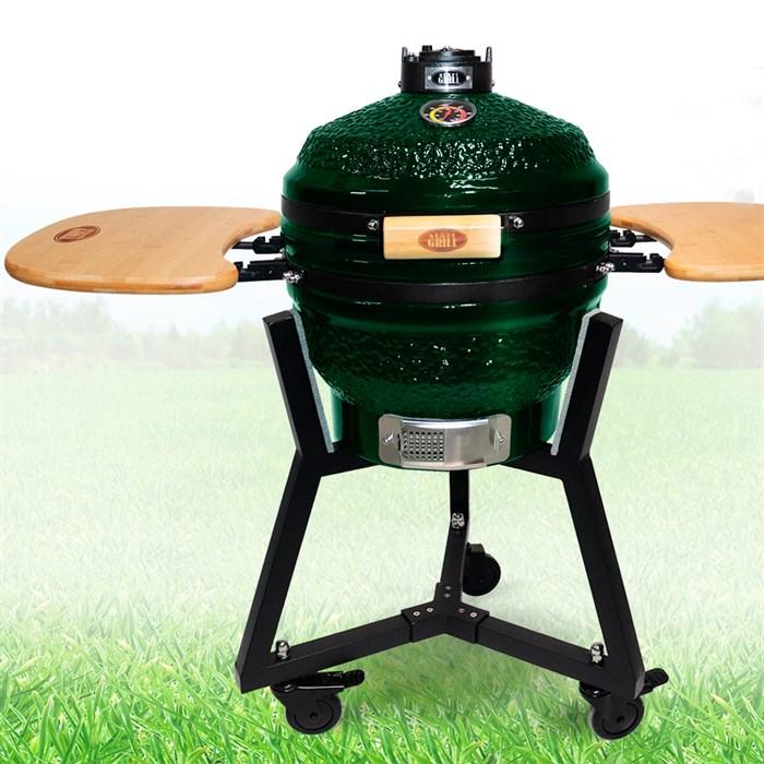 Гриль-барбекю яйцо керамический угольный зеленый, 39,8 см/16 дюймов - фото 87214