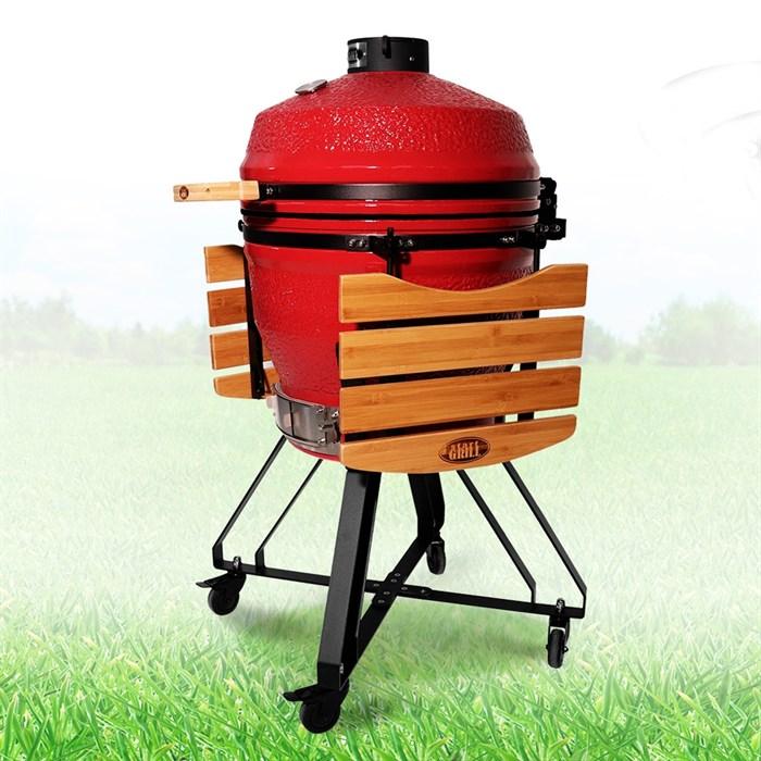 Гриль-барбекю яйцо керамический угольный красный, 56 см/22 дюйма - фото 87223