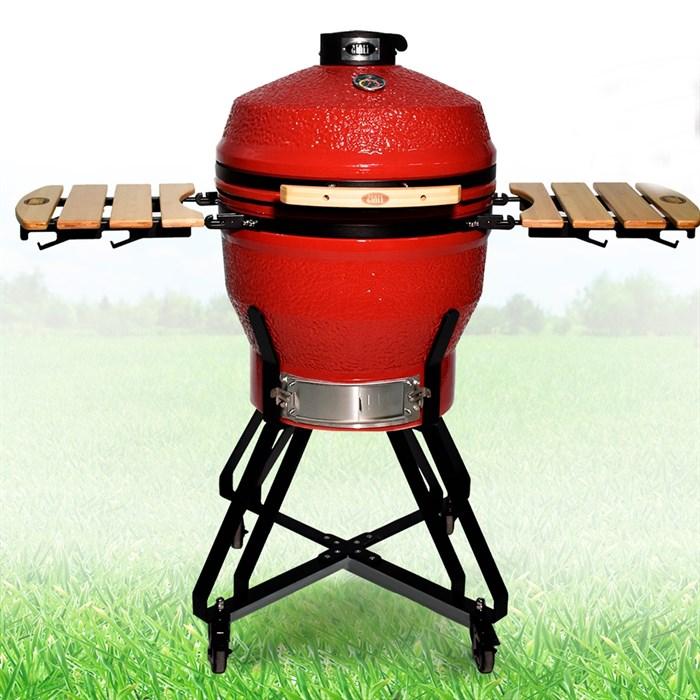Гриль-барбекю яйцо керамический угольный красный, 56 см/22 дюйма - фото 87224